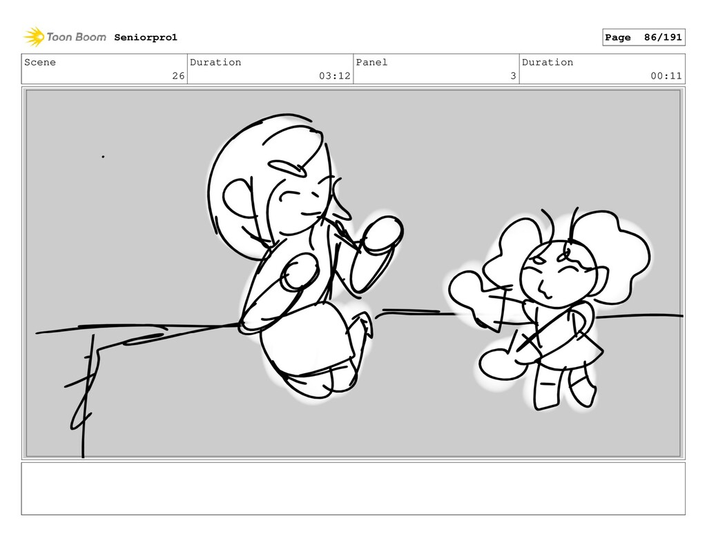 Scene 26 Duration 03:12 Panel 3 Duration 00:11 ...