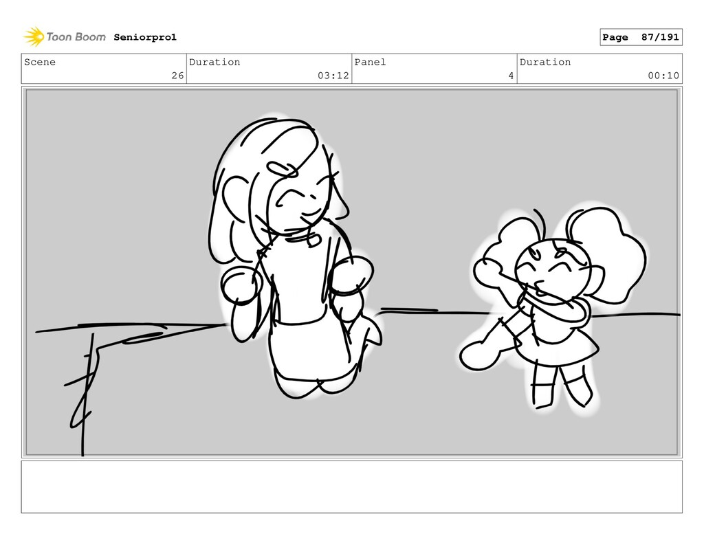 Scene 26 Duration 03:12 Panel 4 Duration 00:10 ...