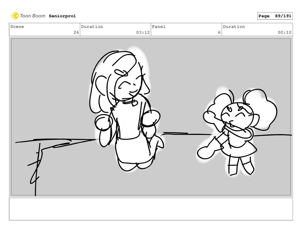 Scene 26 Duration 03:12 Panel 6 Duration 00:10 ...