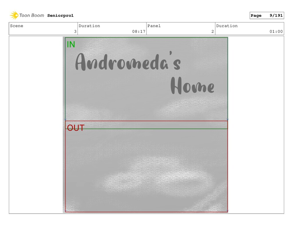 Scene 3 Duration 08:17 Panel 2 Duration 01:00 S...