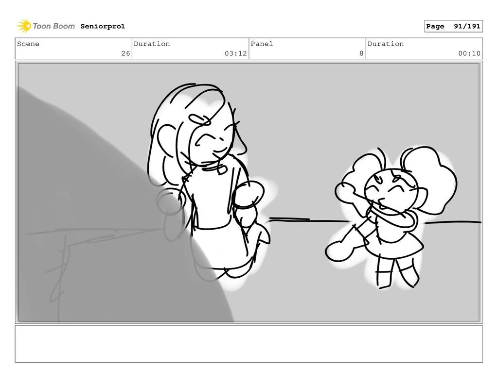 Scene 26 Duration 03:12 Panel 8 Duration 00:10 ...