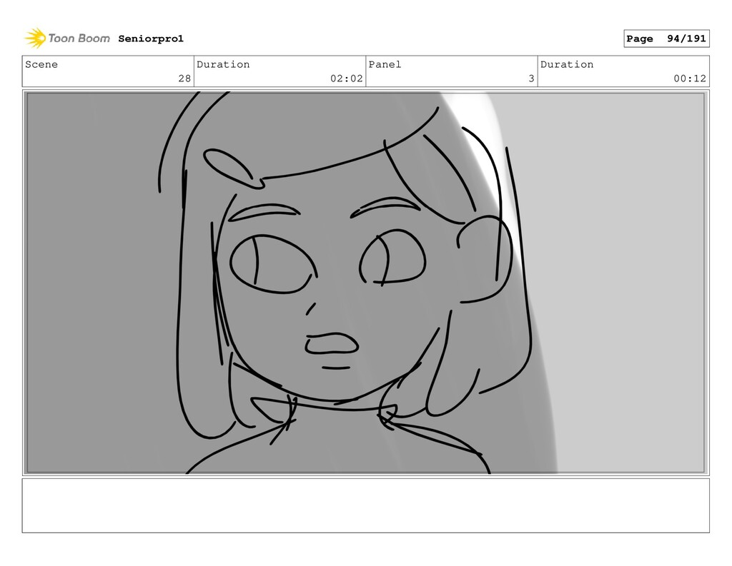 Scene 28 Duration 02:02 Panel 3 Duration 00:12 ...