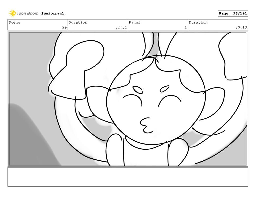 Scene 29 Duration 02:01 Panel 1 Duration 00:13 ...