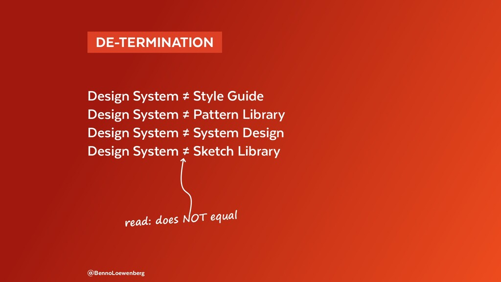 @BennoLoewenberg read: does NOT equal Design Sy...