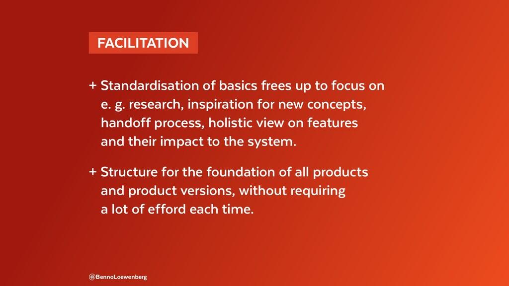 @BennoLoewenberg + Standardisation of basics fr...