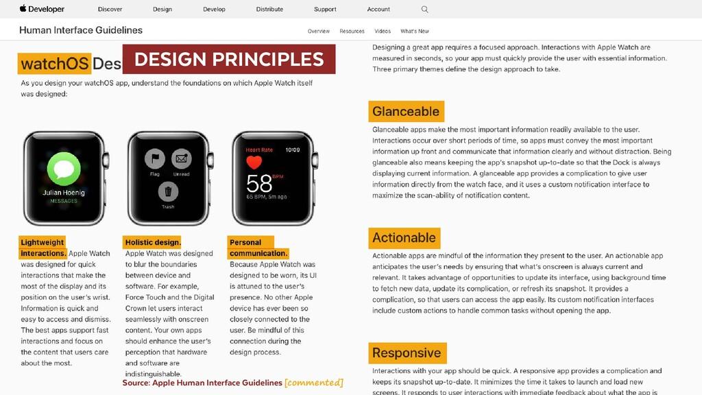 DESIGN PRINCIPLES Source: Apple Human Interf...