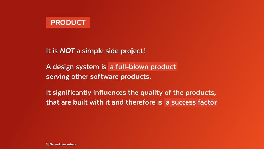 PRODUCT It is NOT a simple side project! A d...