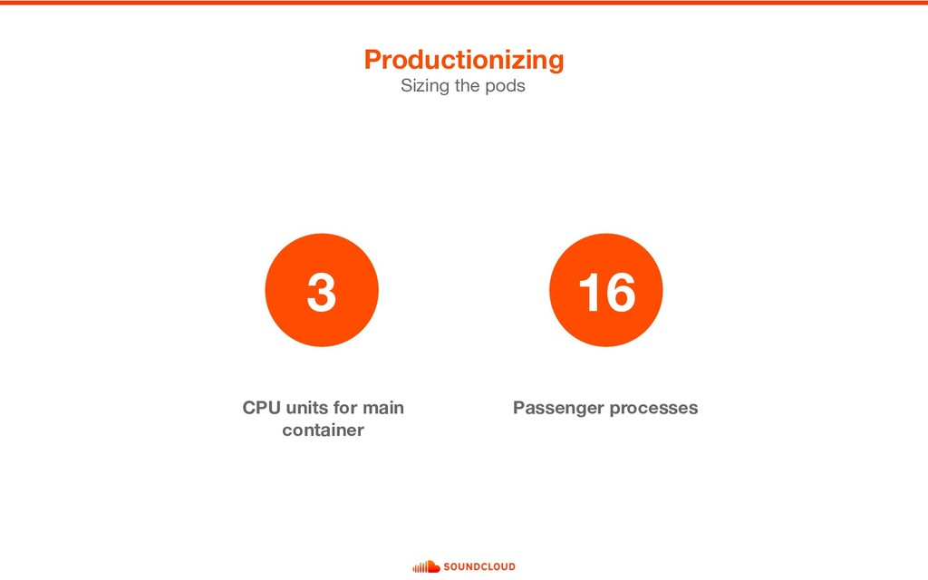 CPU units for main container Passenger processe...