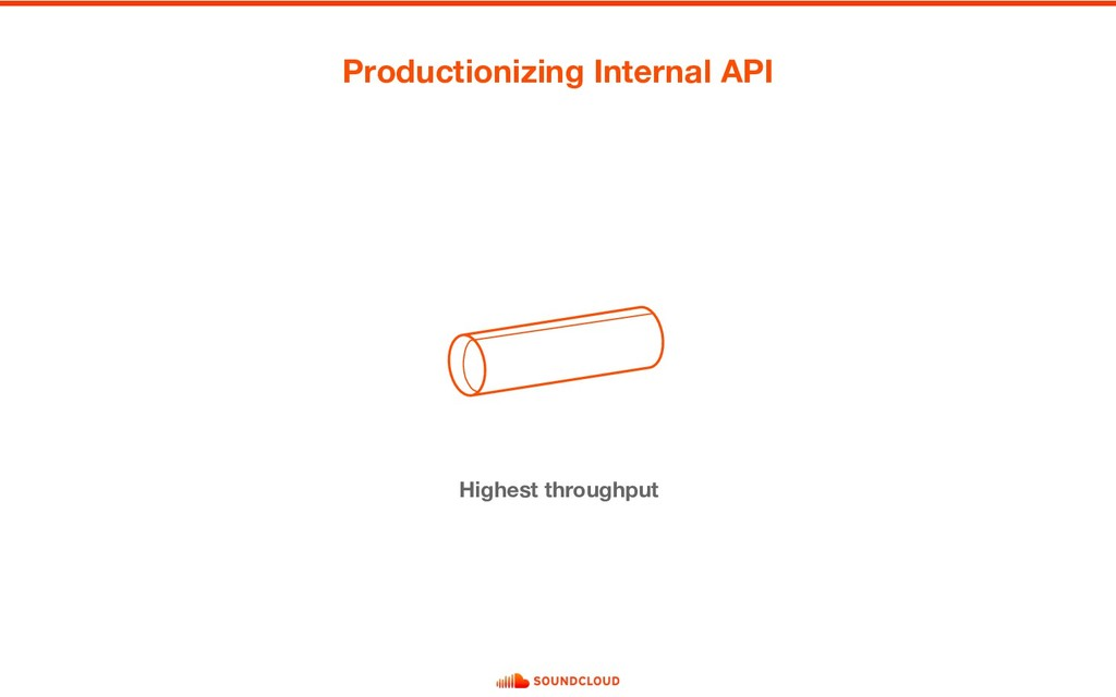 Highest throughput Productionizing Internal API