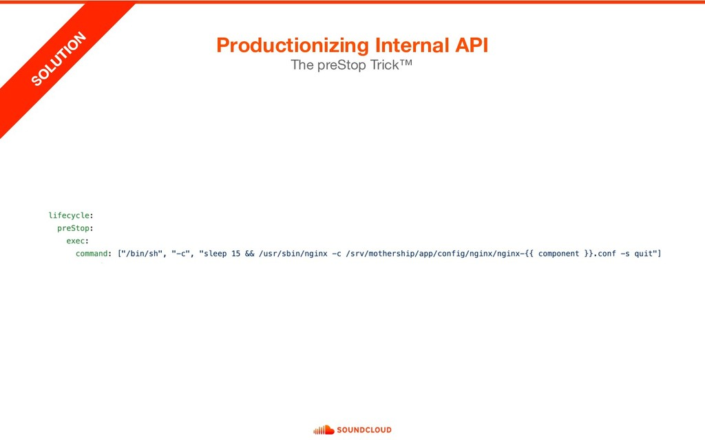 Productionizing Internal API The preStop Trick™...