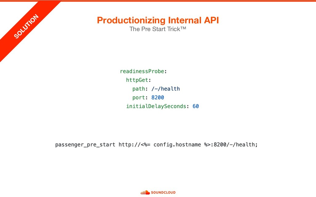 Productionizing Internal API The Pre Start Tric...
