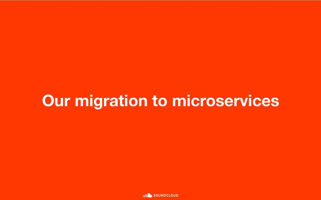 Our migration to microservices