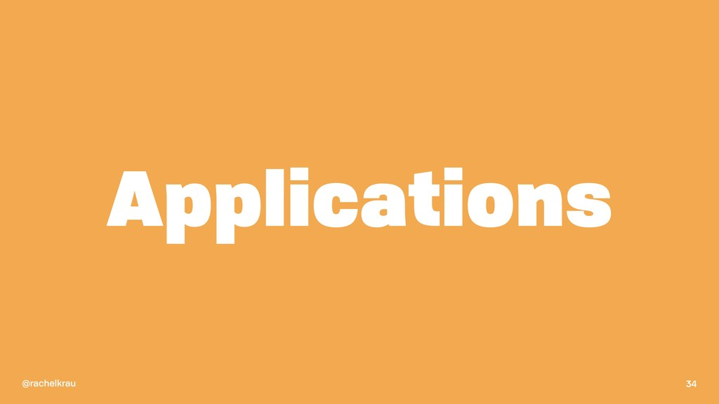 @rachelkrau Applications 34