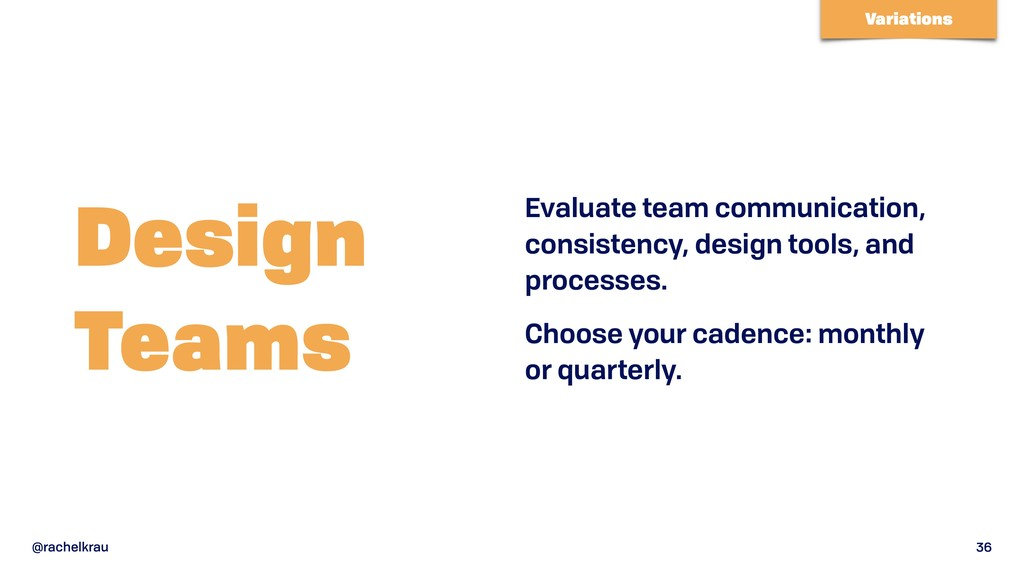 @rachelkrau 36 Design  Teams Evaluate team com...