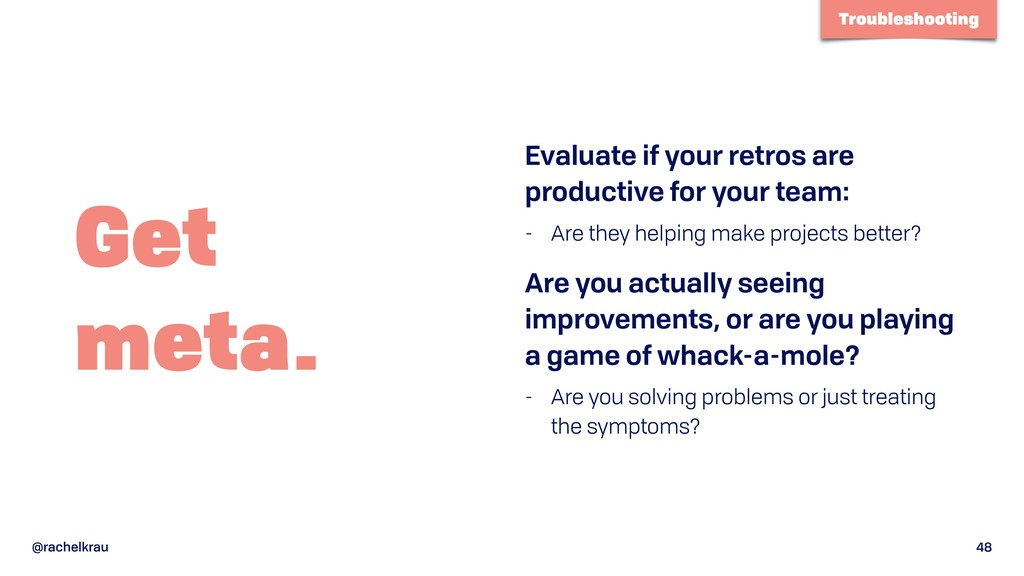 @rachelkrau 48 Get  meta. Evaluate if your ret...