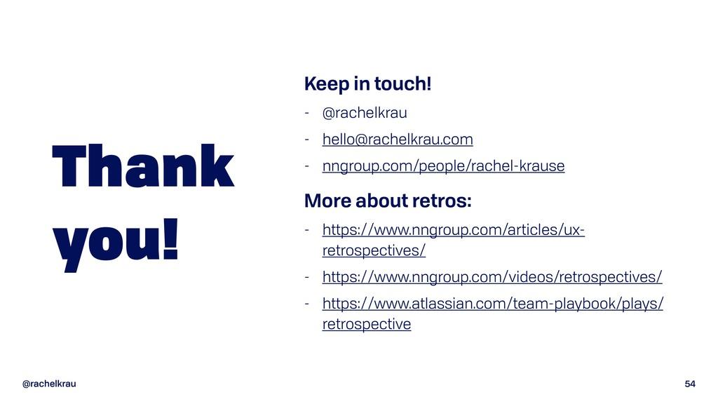 @rachelkrau 54 Thank  you! Keep in touch! - @r...