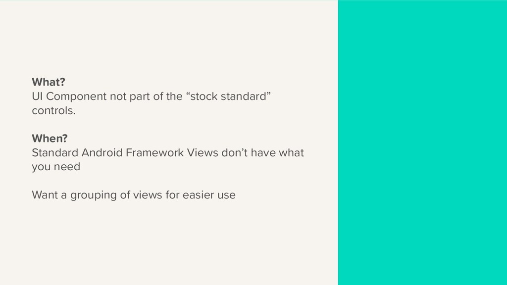 """What? UI Component not part of the """"stock stand..."""