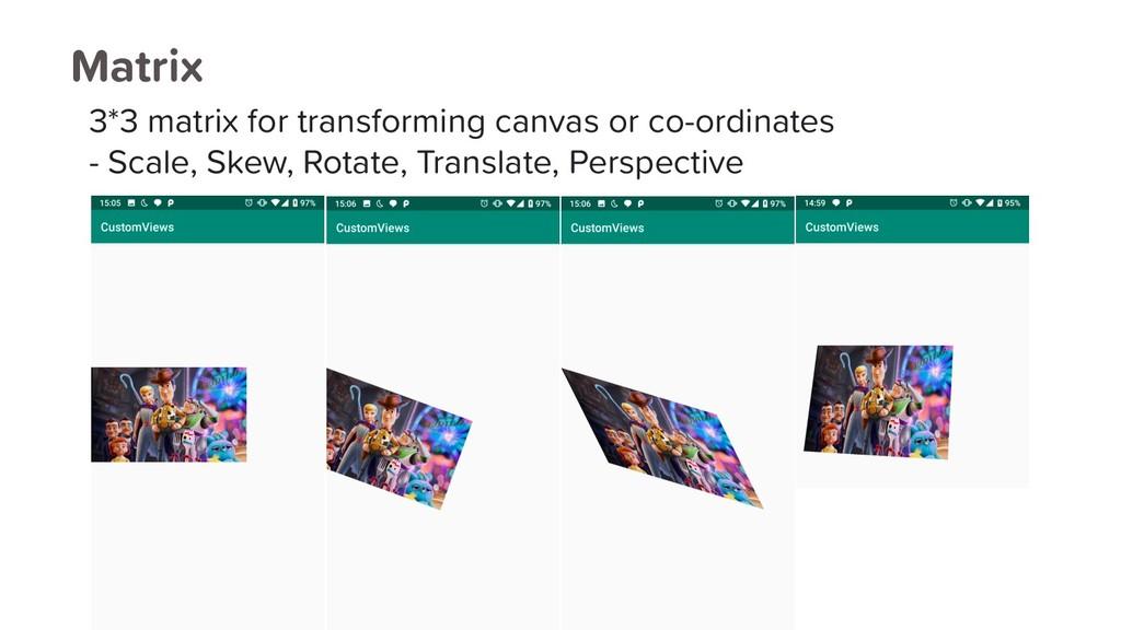 Matrix 3*3 matrix for transforming canvas or co...