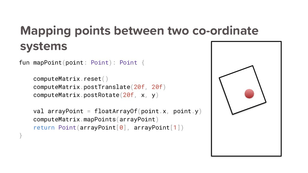 Mapping points between two co-ordinate systems ...