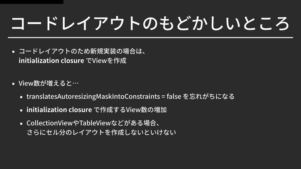 initialization closure View  View translates...