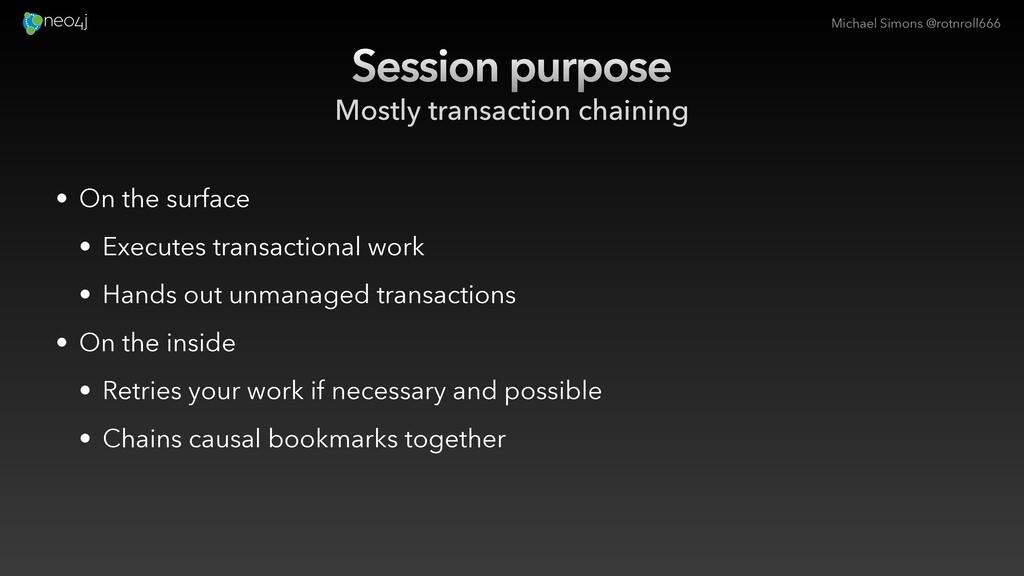 Michael Simons @rotnroll666 Session purpose Mos...