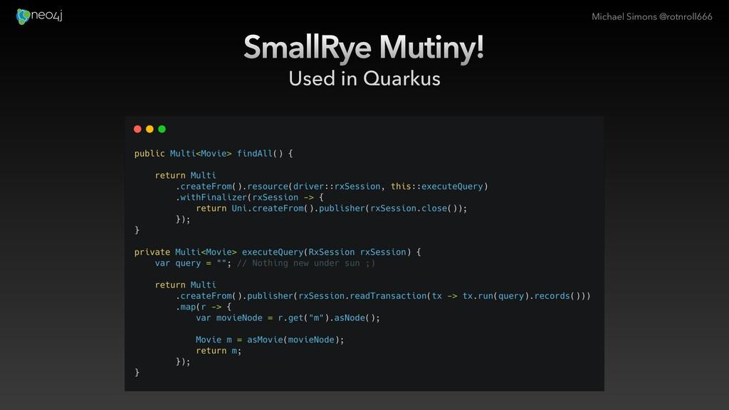 Michael Simons @rotnroll666 SmallRye Mutiny! Us...
