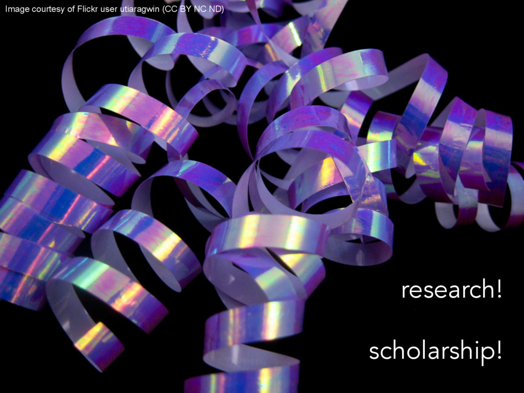research! scholarship! Image courtesy of Flickr...