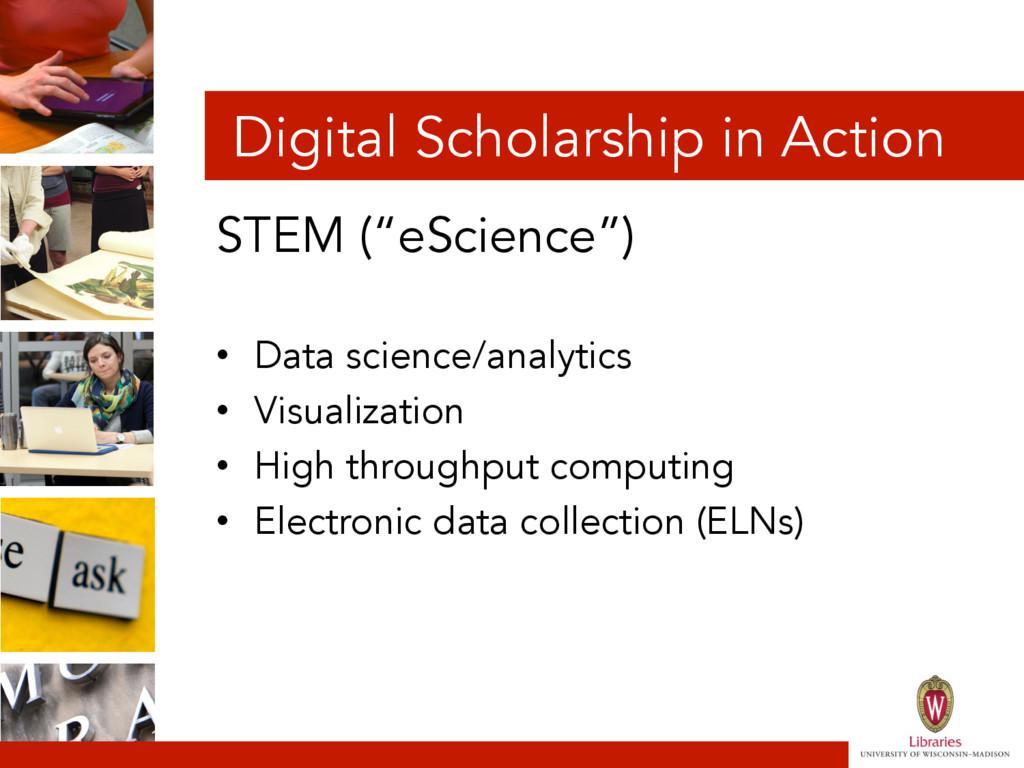 "Digital Scholarship in Action STEM (""eScience"")..."