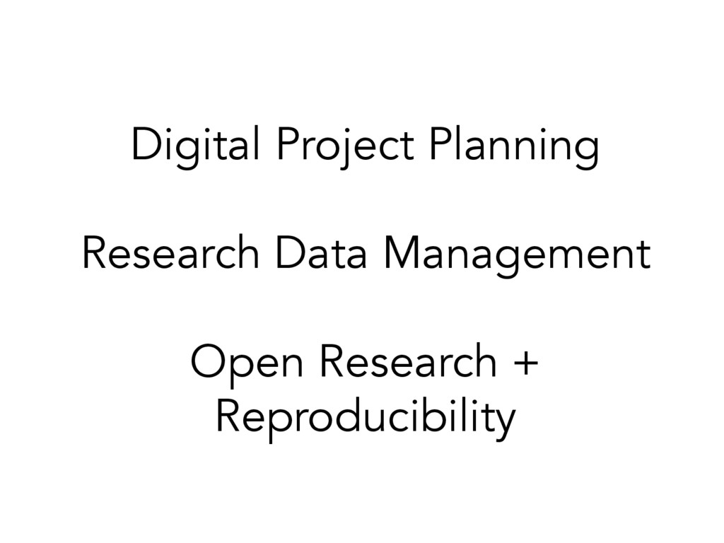 Digital Project Planning Research Data Manageme...