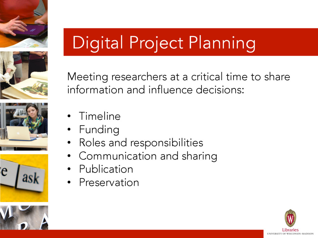 Digital Project Planning Meeting researchers at...
