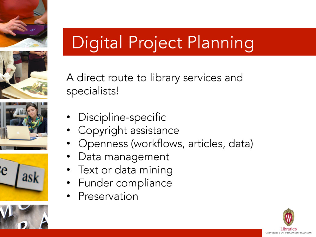 Digital Project Planning A direct route to libr...