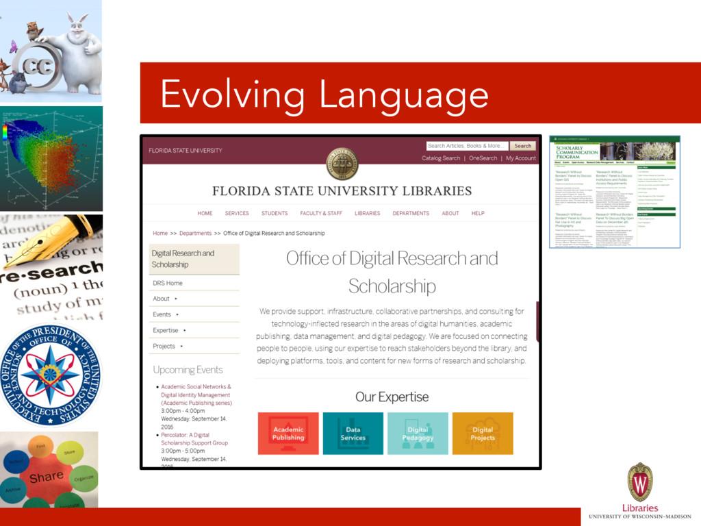 Evolving Language
