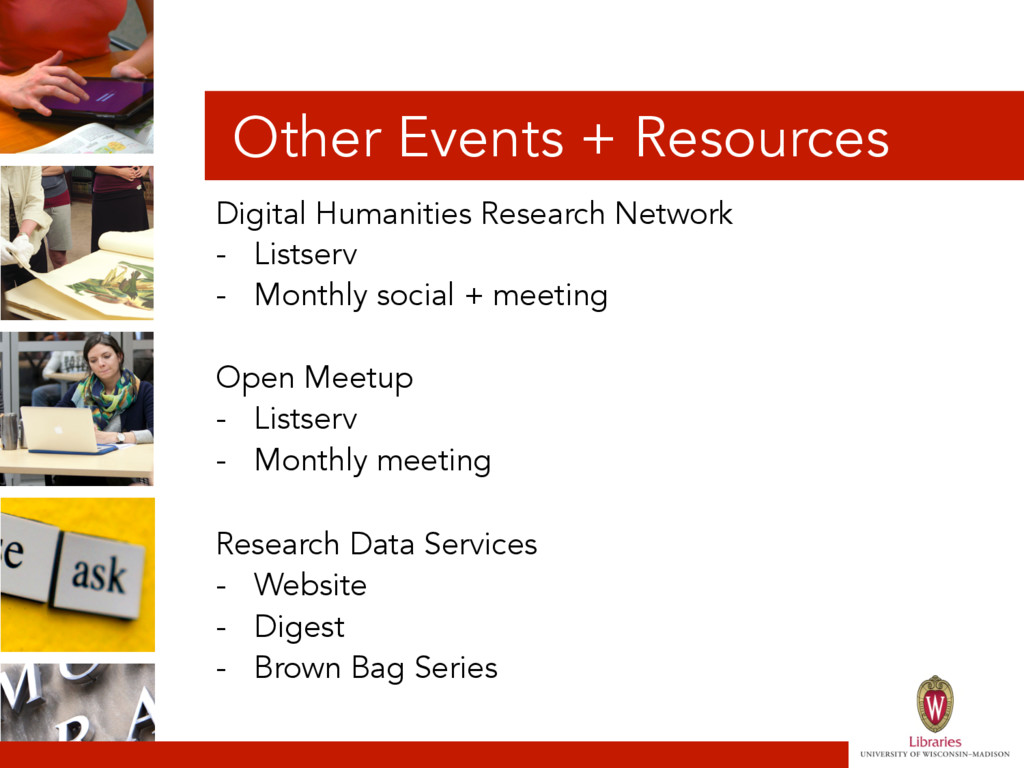 Other Events + Resources Digital Humanities Res...