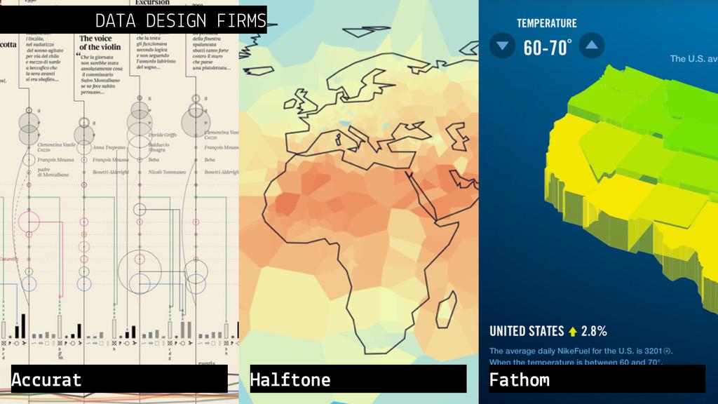 DATA DESIGN FIRMS Accurat Halftone Fathom
