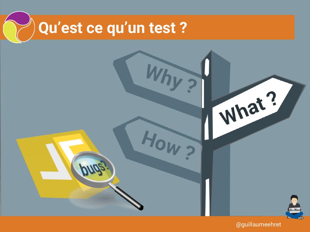 Qu'est ce qu'un test ? @guillaumeehret