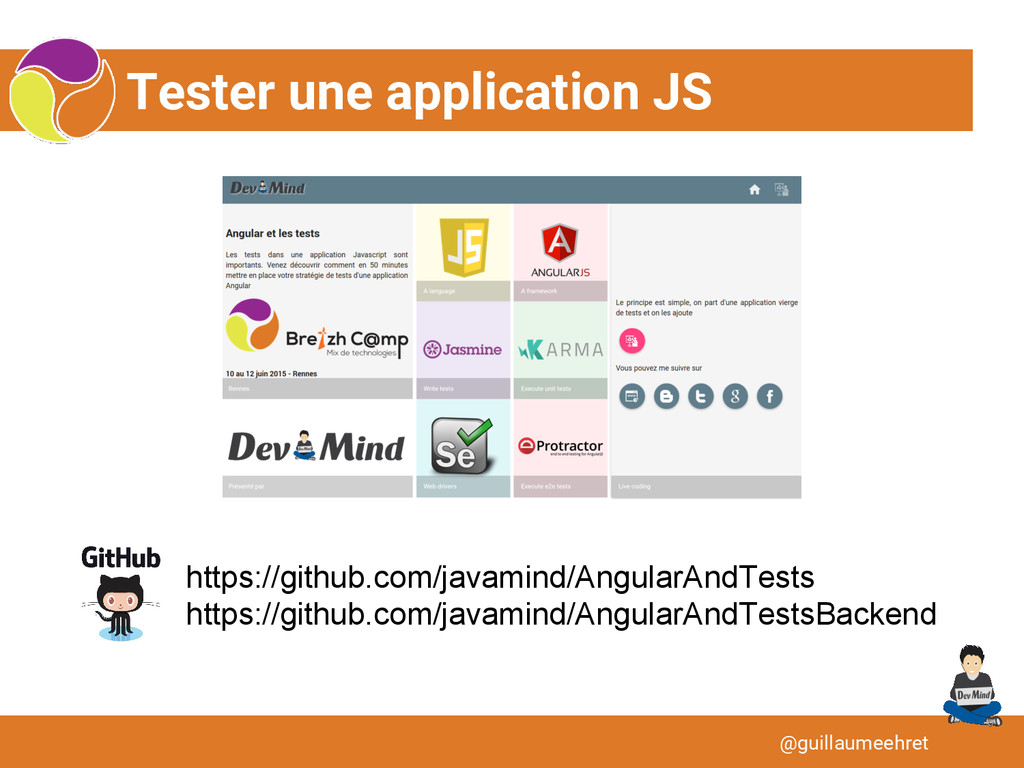 Tester une application JS @guillaumeehret https...