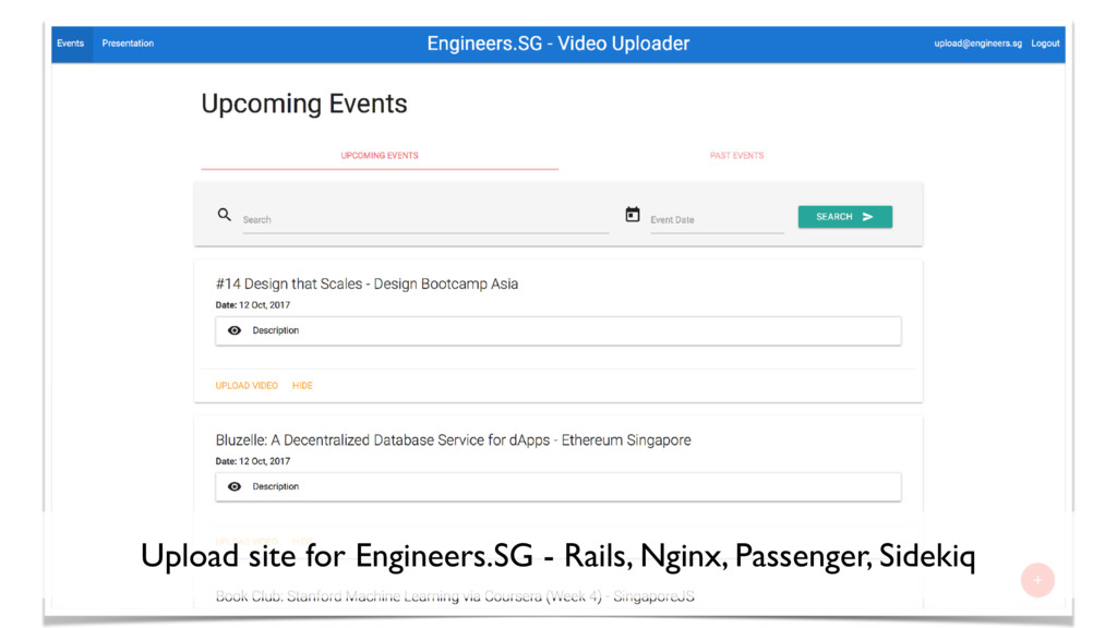 25 Upload site for Engineers.SG - Rails, Nginx,...