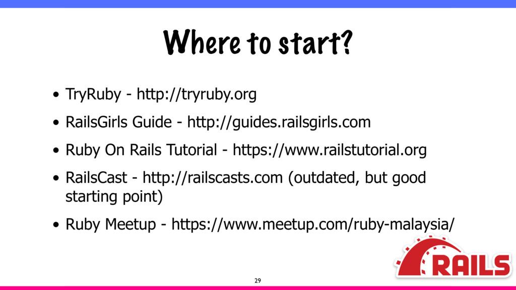 Where to start? • TryRuby - http://tryruby.org ...