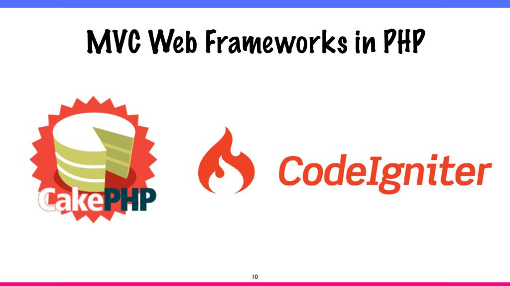 MVC Web Frameworks in PHP 10