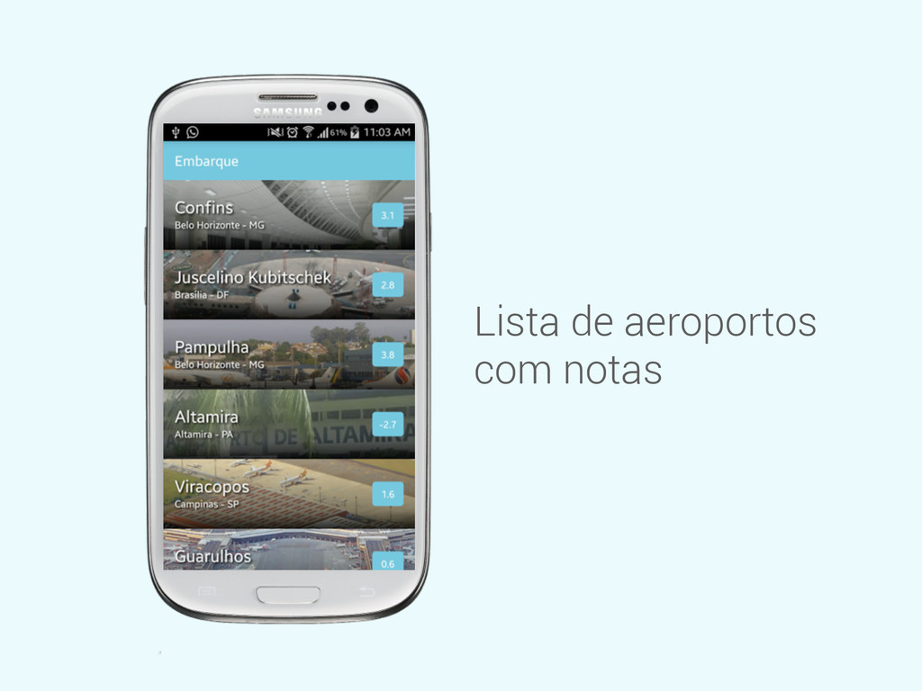 Lista de aeroportos com notas