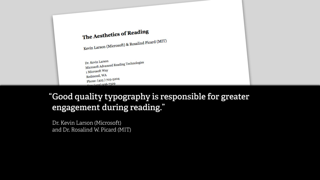 Good quality typography is responsible for grea...