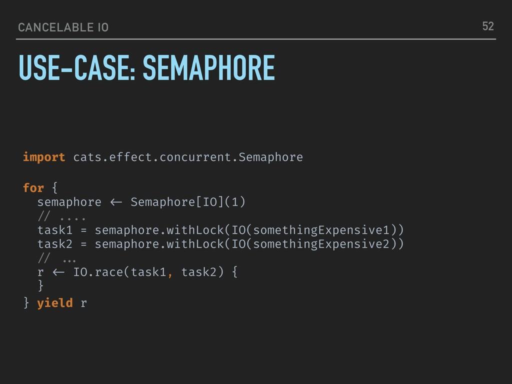 CANCELABLE IO USE-CASE: SEMAPHORE 52 import cat...