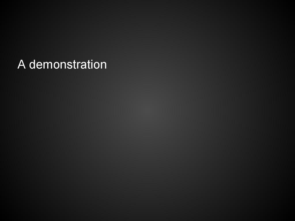A demonstration