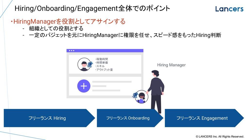 ・HiringManagerを役割としてアサインする - 組織としての役割とする - 一定のバ...