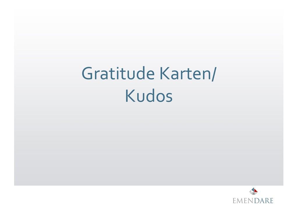 Gratitude Karten/ Kudos
