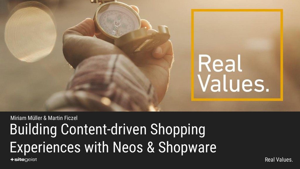 Real Values. Building Content-driven Shopping E...