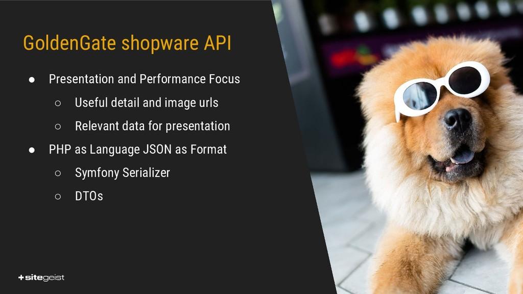 Real Values. GoldenGate shopware API ● Presenta...
