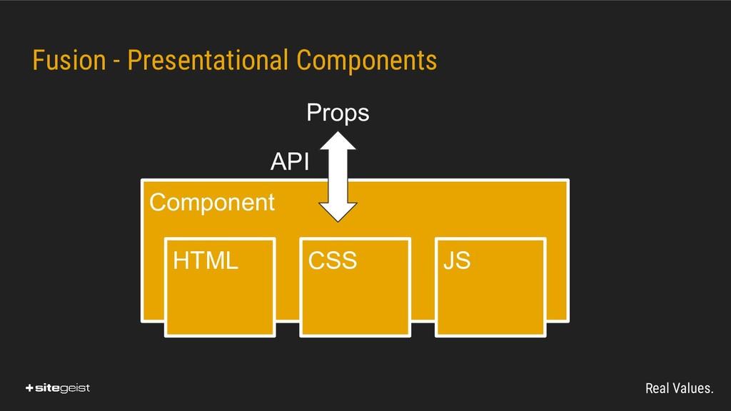 Real Values. Fusion - Presentational Components...