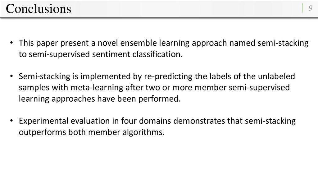 Conclusions 9 • This paper present a novel ense...
