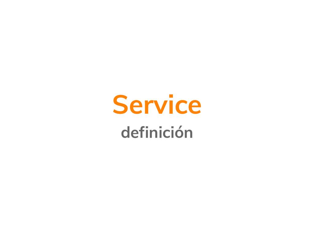 Service definición